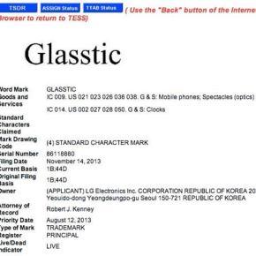 Glasstic : un nom pour les futures lunettes connectées de LG?