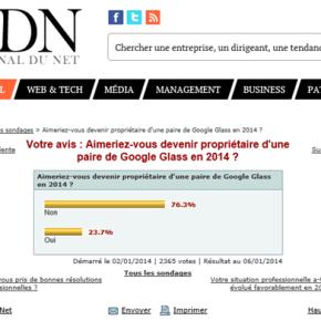 Sondage JDN. Aimeriez-vous devenir propriétaire d'une paire de Google Glass en 2014?