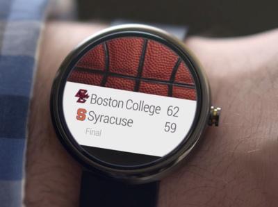 Android pourra afficher les résultats sportifs sur votre montre