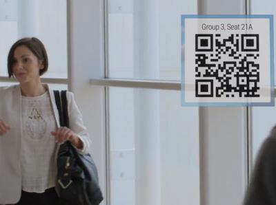 Il pourra directement afficher sur votre poignet les mises à jour concernant votre vol et le code barre de votre carte d'embarquement