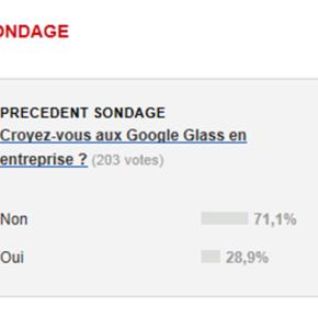 Croyez-vous aux Google Glass en entreprise?